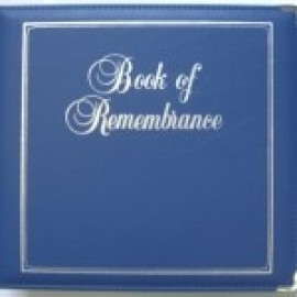 Binder - D-ring 8.5x11 'Book of Remembrance', Caribbean Blue