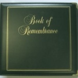 Binder - D-ring 8.5x11 'Book of Remembrance', Forest Green