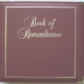Binder - D-ring 8.5x11 'Book of Remembrance', Mauve