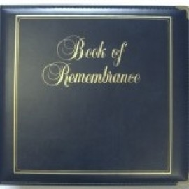 Binder - D-ring 8.5x11 'Book of Remembrance', Navy Blue
