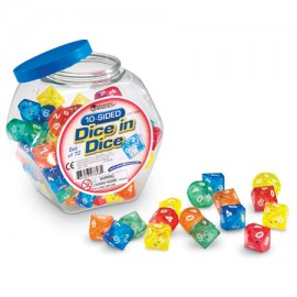 10-Sided Dice in Dice (72 count)