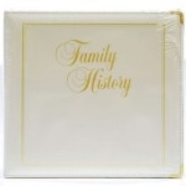 Binder - 3-ring 8.5x11 'Family History', Platinum White