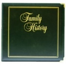 Binder - D-ring 8.5x11 'Family History', Forest Green