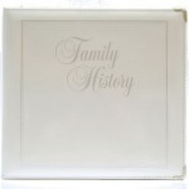 Binder - 3-ring 8.5x11 'Book of Remembrance', Antique White