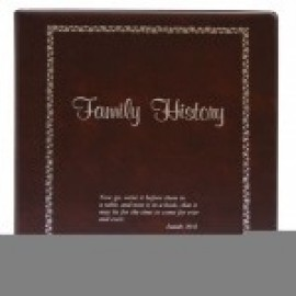 Binder - 3-ring 8.5x11 'Family History', Burgundy
