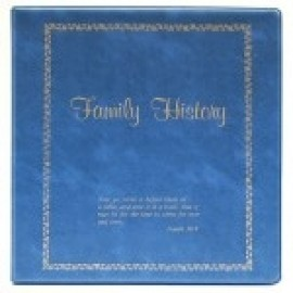 Binder - 3-ring 8.5x11 'Family History', Caribbean Blue