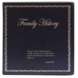 Binder - 3-ring 8.5x11 'Family History', Navy Blue