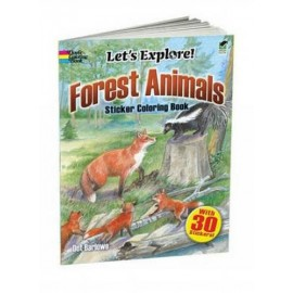 Let's Explore! Forest Animals (Sticker Coloring Book)