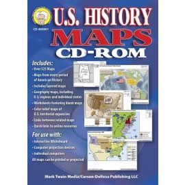 Map: U.S. History Maps Clip Art - CD-ROM